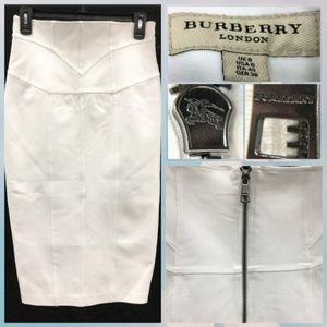 Authentic Burberry London White pencil Skirt